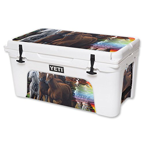 MightySkins Skin For YETI 65 qt Cooler - Horse Stampede | Protective, Durable, and Unique Vinyl Decal wrap cover | Easy To Apply, Remove, and Change Styles | Made in the USA by MightySkins