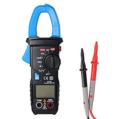 LESHP AC/DC Clamp Meter for Measuring AC & DC Current Low Impedance Voltage Measurement with LCD Display Backlight ACM22A