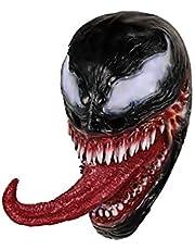 molezu Máscara de Veneno con Cara de fusión de la Lengua, Casco látex Cosplay Accesorios de Disfraces Halloween Prop Film