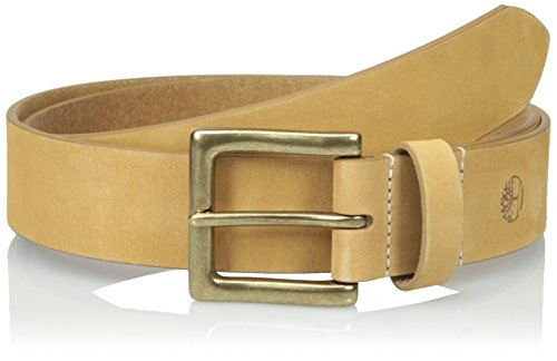 Timberland Mens Leather Belt Casual Wheat Nubuck Boot Leather 1.5 Inches Wide Wheat