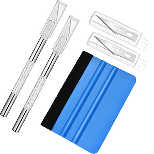 (Jovitec Vinyl Squeegee Hobby Knife Set Wallpaper Smoothing Tool Installation Film Application Kit Craft Cutter Knife for Car Window Film Cutting Art Creation, 13 Pieces Totally)