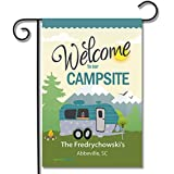 Personalized RV Camping Outdoor Flag Welcome to Our Campsite