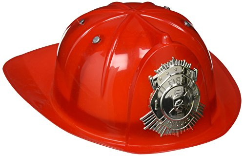 Deluxe Fireman Fire Fighter Red Hat Costume Accessory