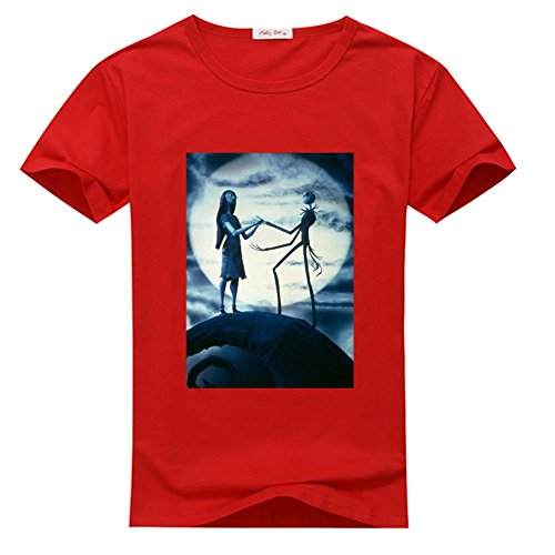 DIY The Nightmare Before Christmas 100% Cotton T-shirt, Custom Men's Classic Crew Neck - The Nightmare Before Christmas (XXX-Large)
