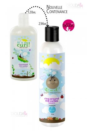 Curls Its a Curl Organic Baby Curl Care Ring Around the Curlies - Leave in Cream 8oz (Its A Curl Leave In Conditioner)