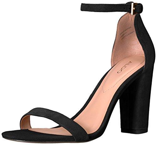 ALDO Women's Myly Dress Sandal Black Suede cheap very cheap RIYJ9pTJ