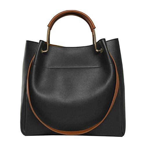 Color Domybest Handbags Black Shoulder Crossbody Bag Elegant Women Large Solid Fashion PU Bags 1q81CwR