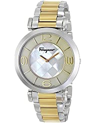 Salvatore Ferragamo Womens FG3060014 Gancino Two-Tone Watch with Link Bracelet