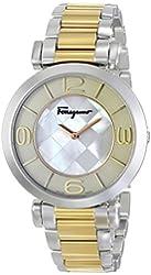 Salvatore Ferragamo Women's FG3060014 Gancino Two-Tone Watch with Link Bracelet