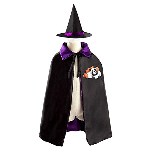 Sushi Costume Cute Halloween (Halloween Costume Children Cloak Cape Wizard Hat Cosplay Cute Panda With Sushi For Kids Boys)