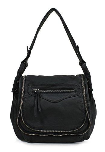 Scarleton Stylish Accent Zipper Crossbody Bag H178501 - Black - Stylish Accent