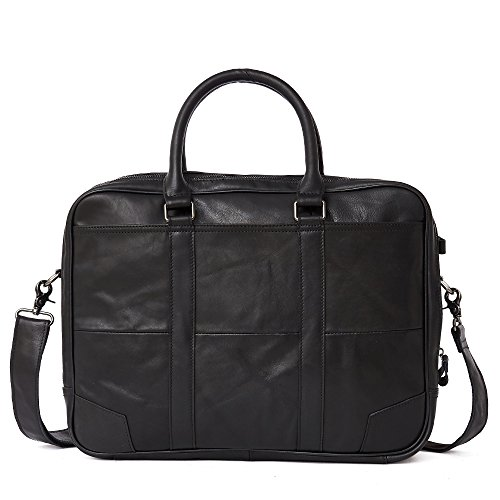Men's Classic Top Cow Genuine Leather Business Handbag Briefcase Shoulder Messenger Satchel Bag For Laptop Macbook