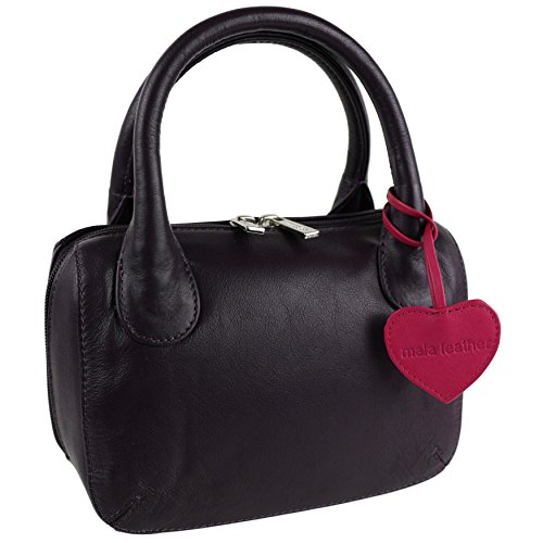 Blu Borsa donna mano Blue Mala Leather a Prugna RqXTwT