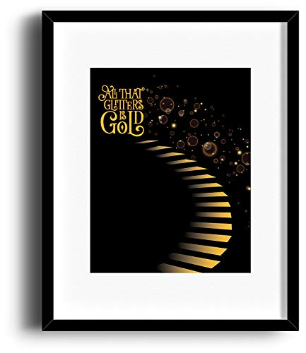 - Stairway to Heaven by Led Zeppelin - Song Lyrics Inspired Art Music Poster - Matted Framed Options