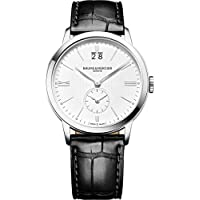 Baume & Mercier Clifton Automatic 41mm Silver Dial Leather Strap Men's Watch (10052)