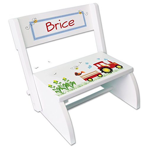 Personalized Sports Two Step Stool Fixe Esp 203 Pt