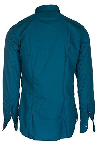 Bagutta camicia uomo maniche lunghe nuova azzurro