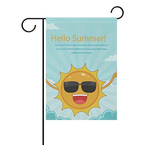 "LEISISI Funny Sun Garden flag 28""X40"" Two Sided Yard Decorat"