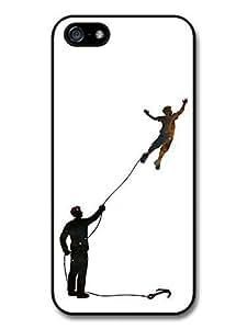 AMAF ? Accessories Banksy Inspired Flying Boy Original Art Illustration case for iPhone 6 plus 5.5