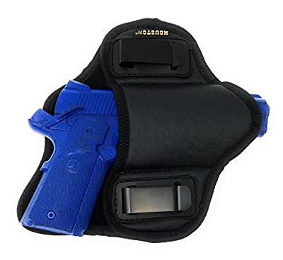 """Tactical Pancake Gun Holster Houston - ECO Leather Concealed Carry Soft Material 