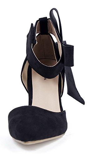 Donna Col Faux Punta Nero Chiusa Tacco Camoscio a AgeeMi Shoes Tacco Scarpe Scarpe 1qxUIwyT5