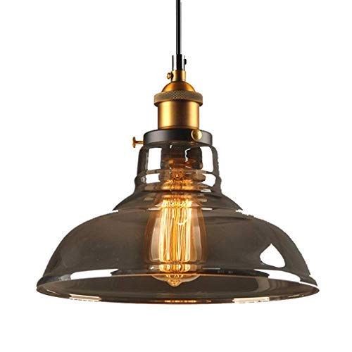 Amazon.com: Lámpara LED ahumada con forma de cuenco de ...