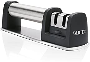 Professional Knife Sharpener for Straight and Serrated Knives, 2 Stage Diamond Coated Sharpening Wheel System By iGearPro VALDTEC 2017 New
