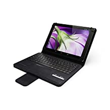 HipStreet Universal 9-10 Inch Tablet Case with Bluetooth Keyboard, Black