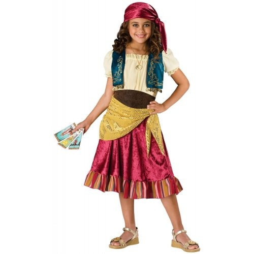 InCharacter Costumes  Girls Gypsy Dress Costume, Multi Color, Large