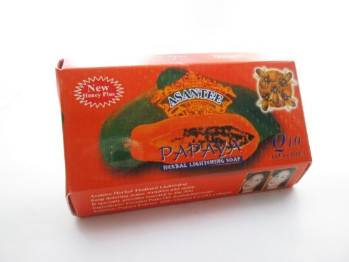 - Asantee Papaya and Honey Skin Whitening Facial Soap Pack of 6