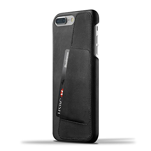 Mujjo Leather Wallet Case compatible with iPhone 7 Plus & iPhone 8 Plus | 2-3 Card Pocket, 1MM Protective Screen Bezel, Japanese Suede Lining (Black) (Case Iphone Wallet Leather Mujjo)