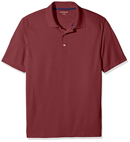 Amazon Essentials Men's Regular-Fit Quick-Dry Golf Polo Shirt, Port, X-Large
