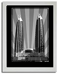 Photo of Damac Tower-Black And White No Text F03-NM (A3)