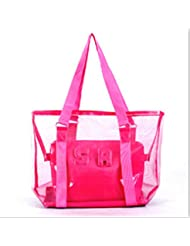 TraveT Fashion Transparent Crystal Jelly Bag Beach Bag