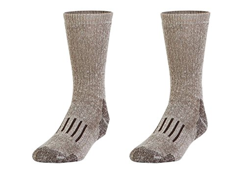 Gold Toe Wool Socks - Gold Toe Men's PowerSox Wool Blend Boot Crew Socks 2 Pack (WOMANS SIZE 10-13,MENS SIZE 9-12 1/2 Taupe Marl)
