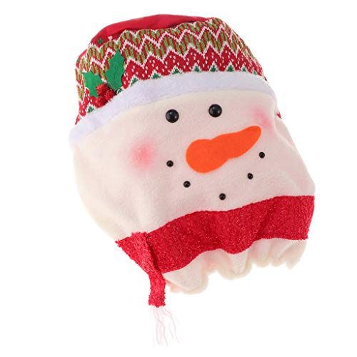 Prettyia Cute Christmas Bottle Hood Cover Water Cooler for Standard Water Dispenser Bucket Decoration - Snowman (Snowman Dispenser Beverage)