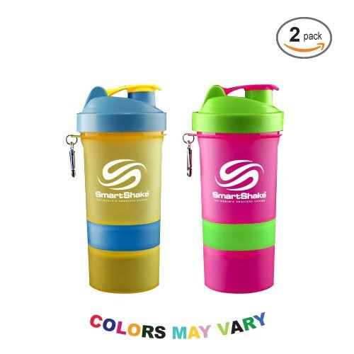 Smart Shake Neon Series 20 Oz Colors Vary 2 Pack
