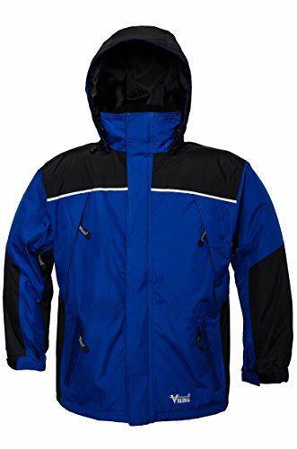 Viking Men's Tempest Classic Waterproof Rain Jacket, Royal Blue/Charcoal, 4X-Large by Viking