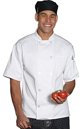 Edwards Garment 10 Button Short Sleeve Chef Coat_WHITE_Small ()