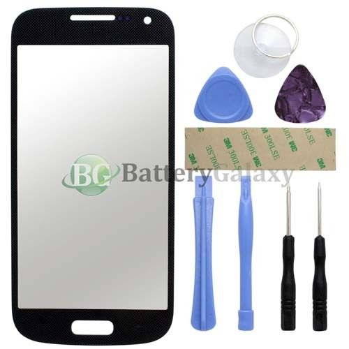 Black LCD Front Screen Glass Replacement Lens for Samsung S4 mini i9190 + Tools