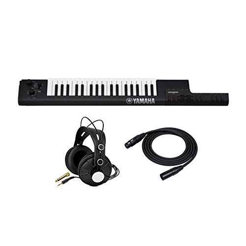 Yamaha Sonogenic SHS-500 Keytar (Black) with Power Supply Bundled with Knox Gear Studio Headphones and XLR Cable (3 Items) from YAMAHA