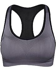 Yorten Women Sports Bra Padded Wireless I-Shaped Breathable Qucik Dry Running Yoga Gym Workout Vest