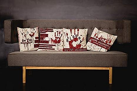 Halloween Horror Printed Linen Pillow Cover Sofa Cushion Case Throw Home Decor