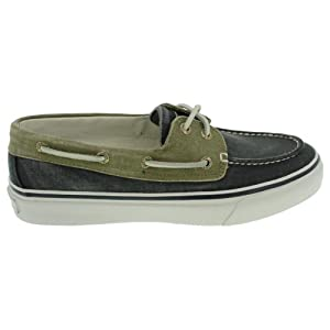 Sperry Top-Sider Men's Bahama 2 Eye Boat Shoe, Navy/Khaki, 9 M US