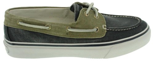 Two Man Fishing Boats (Sperry Top-Sider Men's Bahama 2 Eye Boat Shoe, Navy/Khaki, 10 M US)