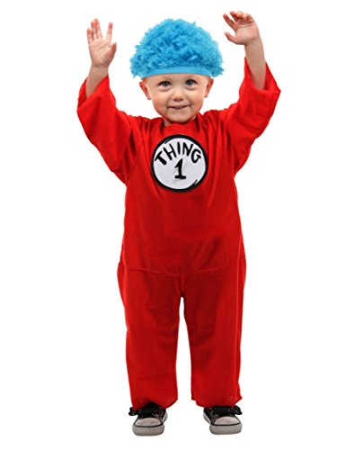 Dr Seuss Infant Boys & Girls Thing 1 or Thing 2 Halloween Costume Jumpsuit & Hat (Thing 1 Baby Costume)