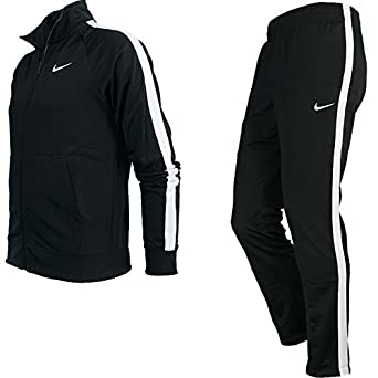 6a8785a0d0 Nike Poly Warm-up Sports Full Tracksuit Jacket Bottoms Top Trousers Set -  Black (X-Large): Amazon.co.uk: Clothing