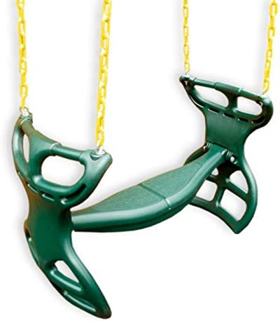 Heavy Duty Gym Swing Anti-Rust Chain Swing Seat Tree Hanging Recreational Swing for Playground Backyard Garden lahomie Outdoor Swing Seat