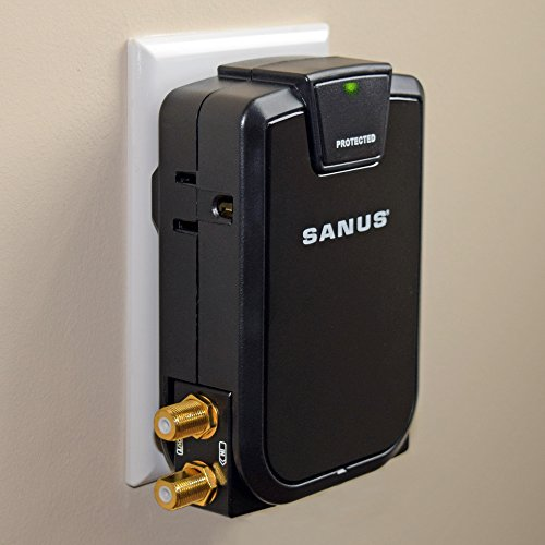 SANUS Low Profile On-Wall AV Surge Protector with 1080J of F