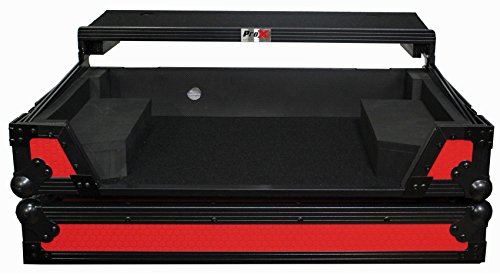ProX flight case for pioneer DDJ-SX2 LED Kit Included Red on Black Laptop shef & ()